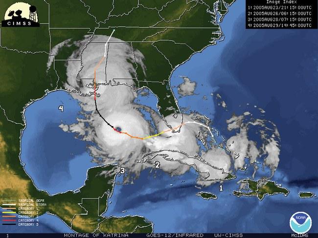 Uraganas Katrina  ©vos.noaa.gov