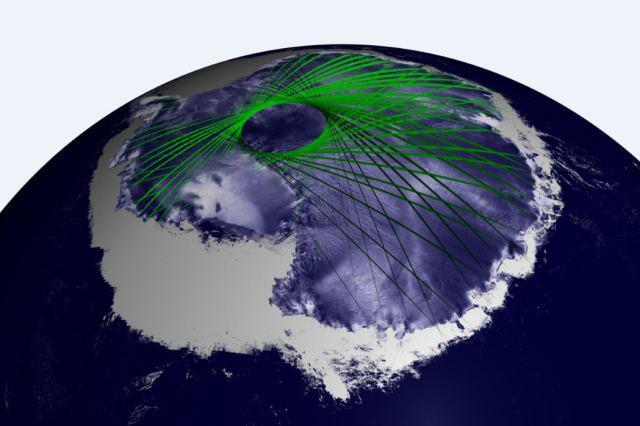 Pietų ašigalį rekordinio dydžio ledo kepurė buvo padengusi dar pernai, 2012 m., tačiau iliustracijoje matomas pernykštis rekordas gyvavo tik iki šių metų rugsėjo  ©NASA GSFC
