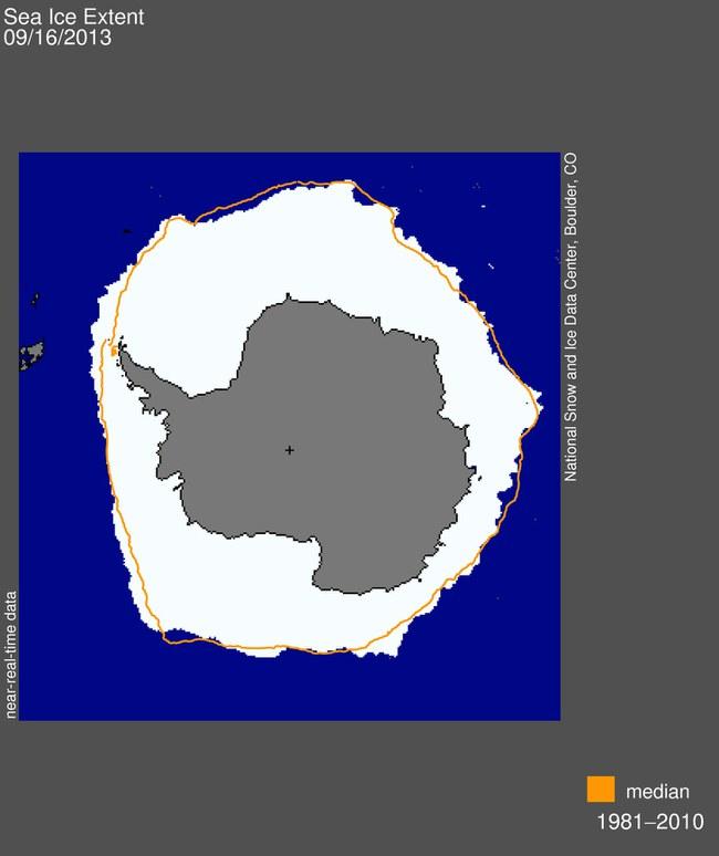 Pietų ašigalį prieš savaitę padengė rekordinio dydžio ledo kepurė  ©NSIDC
