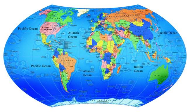 Pasaulio zemelapis salys